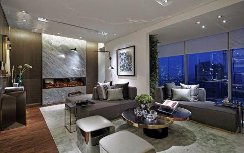 客厅隐形门欧式风格装饰图片