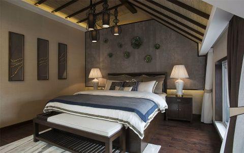 卧室背景墙中式风格装饰设计图片
