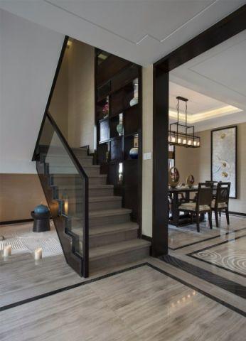 餐厅楼梯中式风格效果图