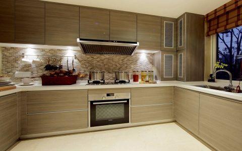厨房背景墙新中式风格装饰设计图片