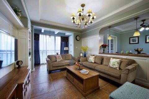 康城现代简约三居室装修效果图