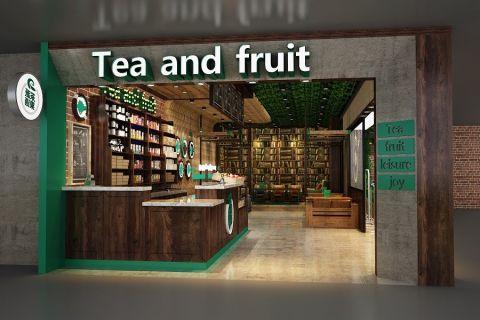 茶派果语饮品店装修效果图