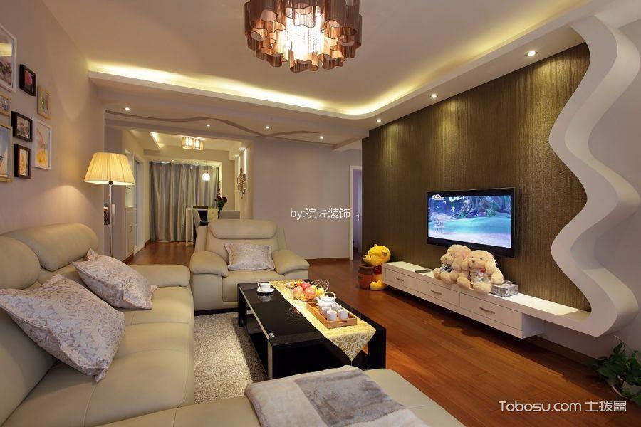 客厅 背景墙_滨湖徽杰苑现代简约风格三居室装修效果图