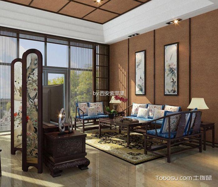 简中风格120平米三室两厅新房装修效果图