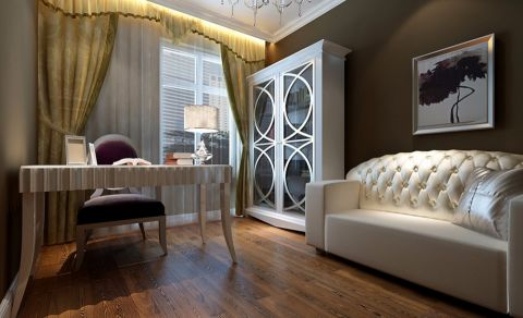 2020新古典110平米装修图片 2020新古典三居室装修设计图片