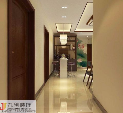 2021中式110平米装修图片 2021中式三居室装修设计图片