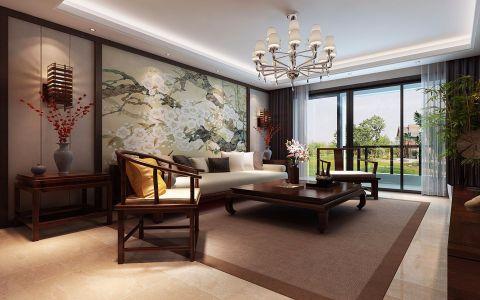 龙湖一品150平三室两厅现代中式装修效果图