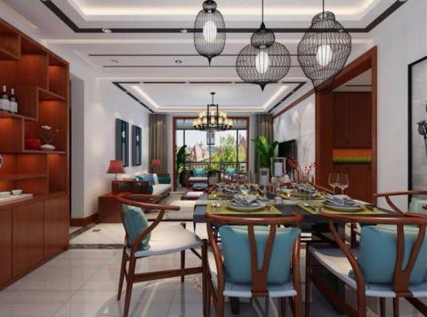 餐厅吊顶新中式风格装饰图片
