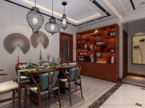 餐厅博古架新中式风格装潢图片
