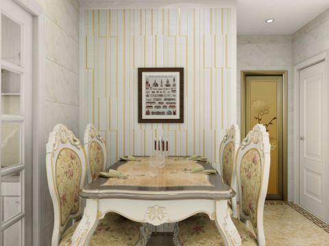 餐厅背景墙简欧风格装饰设计图片