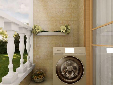 阳台背景墙简欧风格装饰效果图