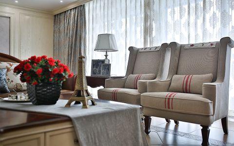 窗帘美式风格装潢设计图片