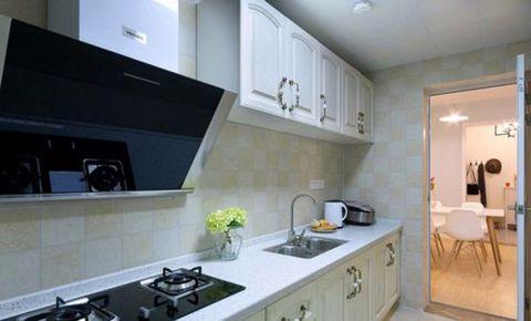 厨房背景墙田园风格装潢图片