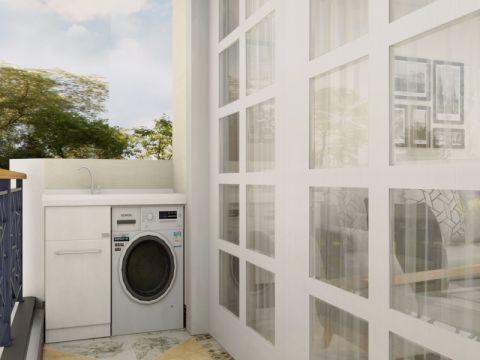 阳台背景墙现代简约风格装潢效果图