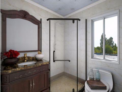 卫生间窗台简中风格装饰图片