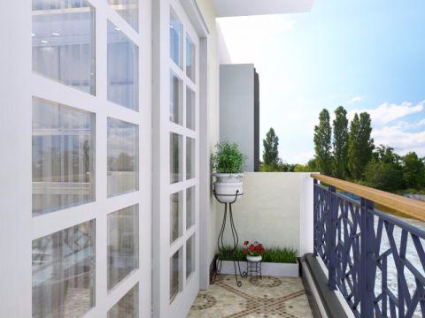 阳台推拉门简中风格装潢图片