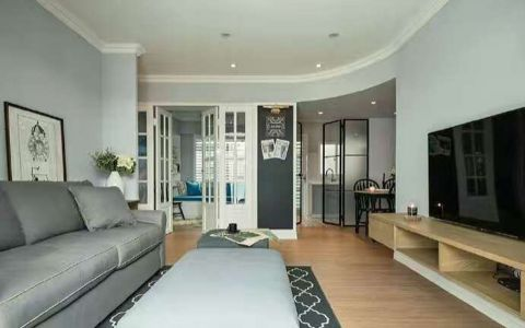 客厅沙发后现代风格装潢图片