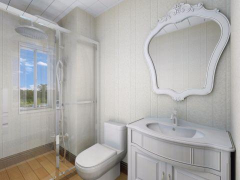 卫生间背景墙欧式风格装修设计图片