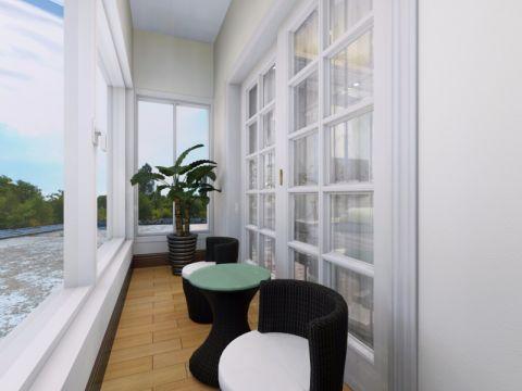 阳台背景墙欧式风格装饰设计图片