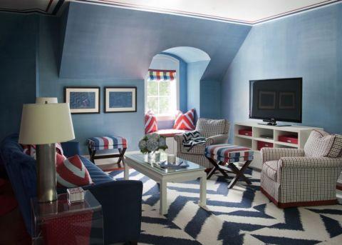 东湖景园三居室美式风格装修效果图