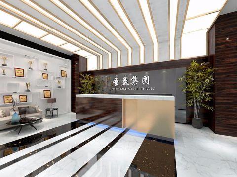 上海圣益集团办公室装潢效果图