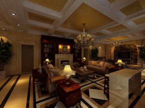 客厅吊顶经典风格装修图片