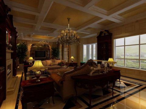 客厅博古架经典风格装饰图片