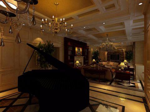 客厅背景墙经典风格装潢图片