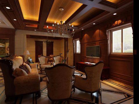 客厅背景墙经典风格装修效果图