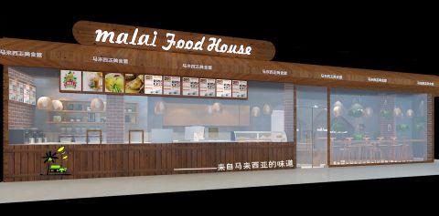 马来西亚美食屋工装装修效果图