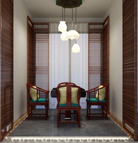 书房榻榻米中式风格装饰设计图片