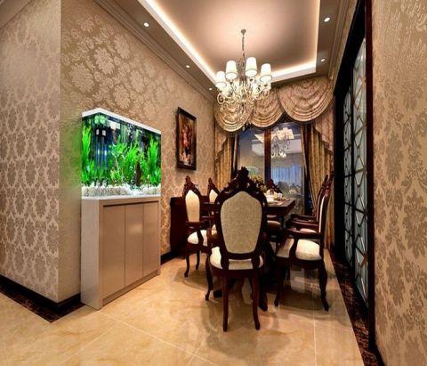 餐厅背景墙欧式风格装潢图片