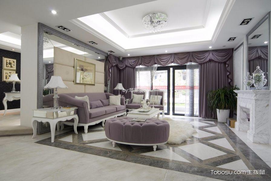 杭州首开国风美域132平四居室欧式风格效果图
