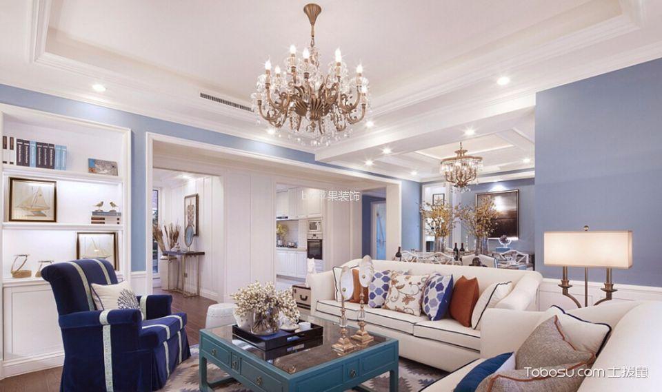 杭州天阳尚城国际127平三居室混搭风格效果图
