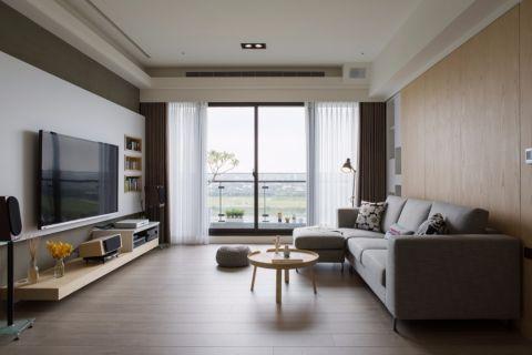湖畔小区现代简约两居室设计效果图