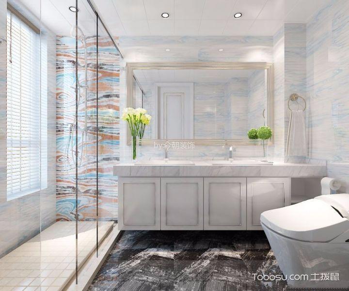 铂悦山140平米三室两厅现代风格装修效果图