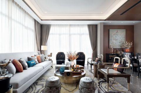 2020中式150平米效果图 2020中式三居室装修设计图片