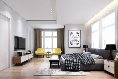 2019地中海90平米效果图 2019地中海三居室装修设计图片