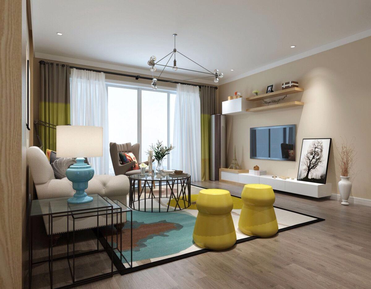 3室1卫2厅123平米现代风格