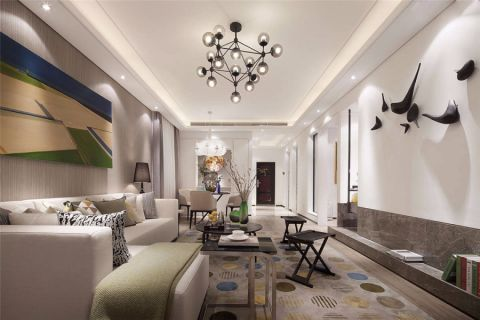 中海独墅岛100平现代简约风格装修效果图