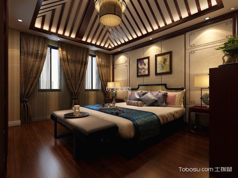 中式风格310平米别墅室内装修效果图