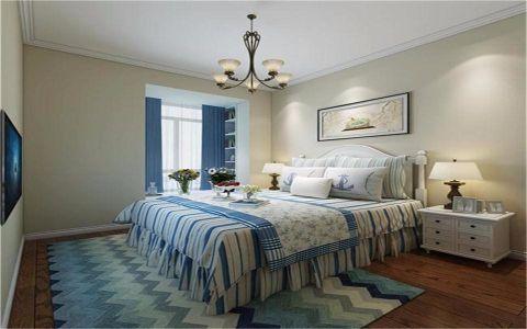 卧室白色床头柜地中海风格装修设计图片