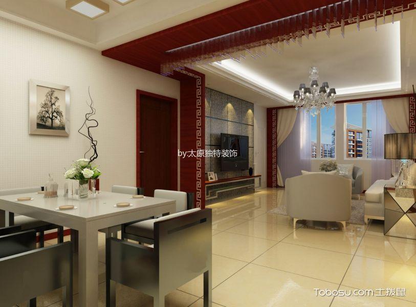 龙城天悦三居室现代中式风格效果图
