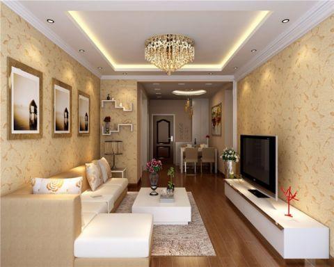 加桥悦山国际简欧风格三居室装修效果图