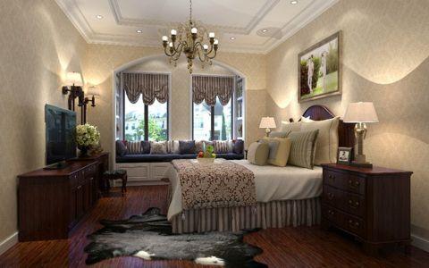 卧室吊顶田园风格装饰效果图