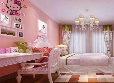 卧室背景墙古典风格效果图