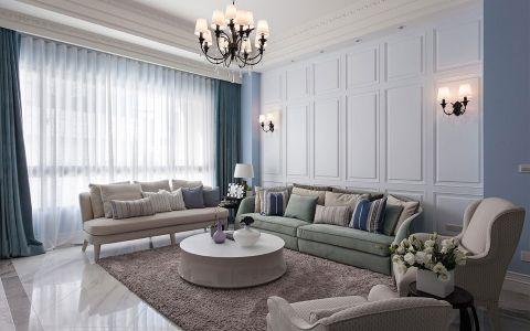 客厅窗帘新古典风格装修设计图片