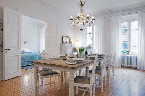 餐厅窗帘欧式风格装饰设计图片