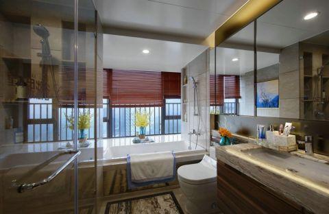 卫生间背景墙简单风格装饰设计图片