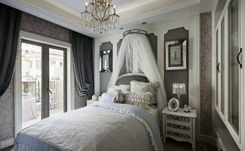卧室窗帘法式风格装潢效果图